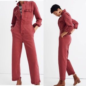 Madewell 8 Garment Dyed Slim Stretch Coverall NWOT